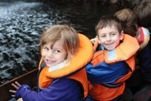 The children on the Sealife Survey boat