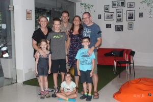 With the King family at Orchid Hostel, Bangkok