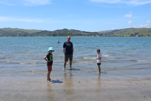 Fun at Onehunga Bay, Wellington