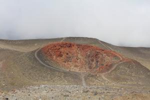 Red crater, Osorno Volcano. Puerto Varas