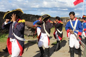 Battle re-enactment at Valdivian Fort System