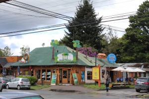 Pucon has lovely wide streets and welcoming restaurants in wooden buildings.