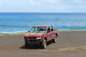 The locals don't care too much for vehicle repairs on Rapa Nui.