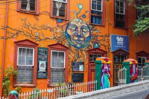 Accommodation in Valparaiso can be colourful