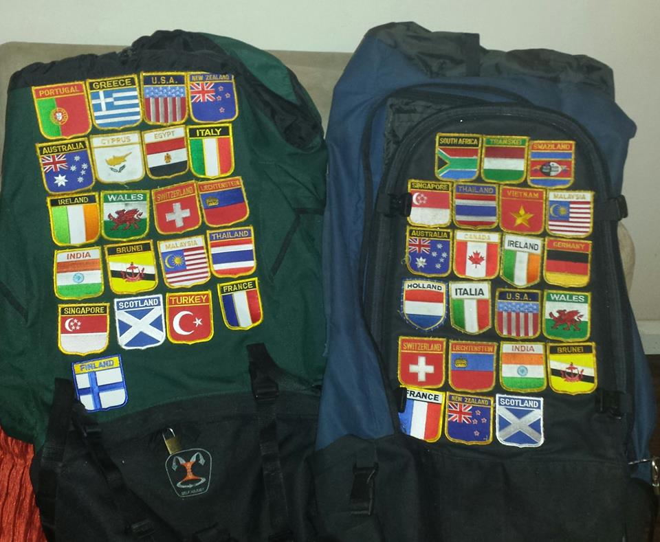 Backpacks with flags