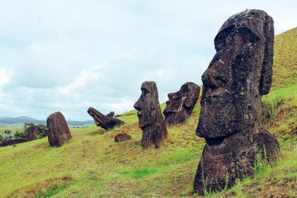 The Moai at the Rano Raraku, Rapa Nui